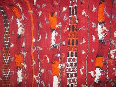 Handira Wedding Carpet Blanket Wall Hanging Moroccan Red Throw Rug Heavy