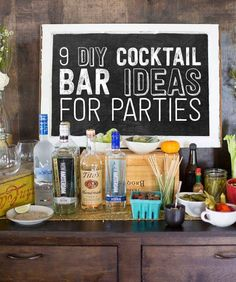 Totally doing this for my birthday party. One of them anyway. #cocktaildrinks