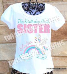 Unicorn Sister Shirt | Unicorn Birthday Shirt | Unicorn Birthday Outfit | Unicorn Birthday Party Ideas | Unicorn First Birthday | Birthday Party Ideas for Girls  Twistin Twirlin Tutus  #unicornbirthday #twistintwirintutus