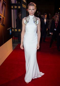 Cate Blanchett wows in white as she joins BFI Fellowship, picking up top accolade from Sir Ian McKellen