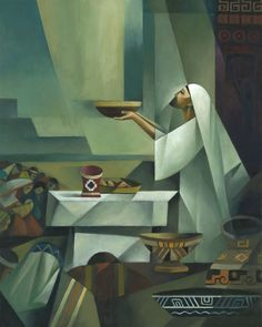 The Book of Mormon – Sacrocubist Collection (click to see more) – Jorge Cocco Santángelo Christian Paintings, Christian Art, Catholic Art, Religious Art, Religion, Lds Art, Christian Messages, Biblical Art, Jesus Art