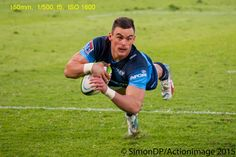 Catch the action with the right photographic gear.  Jesse Kriel scoring try  #sportsphotography #photography #rugby #photogear