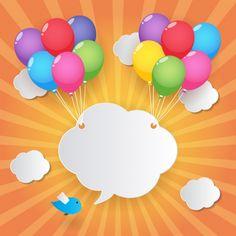 Облако удерживается воздушными шарами Бесплатные векторы