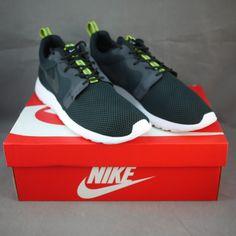 22916d12074f Nike Roshe Run Hyperfuse Men 636220-003 Black   Black-Anthracite-Venom Green