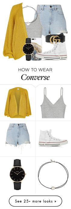 """""""95.1"""" by mallorimae on Polyvore featuring Alexander Wang, H&M, Vanessa Mooney, Nanette Lepore, Gucci, River Island, Converse and CLUSE"""