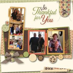 Thanksgiving scrapbook page using My Digital Studio software from Stampin' Up!