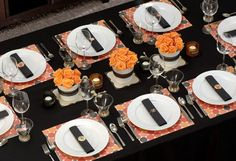 Halloween dinner party decorations _ Decoraciones para fiesta de Halloween