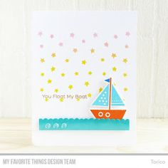 Welcome to Day 3 of the MFT June Release Countdown!     My card for today features the You Float My Boat stamp set  & Die-namics .     It's...