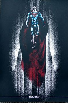 Man of Steel Fortress Of Solitude Screen Print
