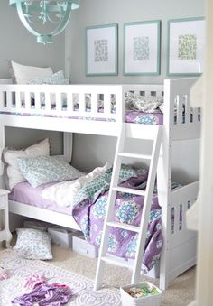 Thanks so much everyone for the kind comments on my younger daughter's room, it was fun to pull together a space with a lot of pattern in color palette she chose. You asked, so I'm here to answer… here are a few more details on the projects that went into her young and feminine bedroom. …