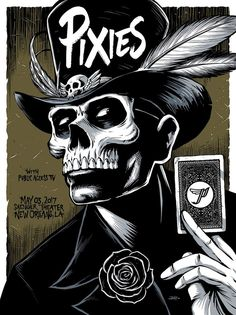 Image of Pixies New Orleans, LA Poster Gig Poster, Tour Posters, Band Posters, Movie Posters, Festival Metal, Rock Logos, Musik Illustration, Arte Punk, Pixies Band