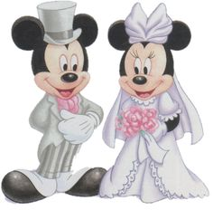Bride Minnie Mouse & Mickey Mouse the Groom