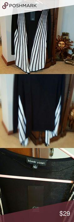 Sweater Black and white cardigan Black Rivet Sweaters Cardigans