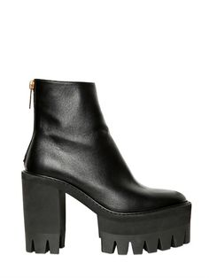 STELLA MCCARTNEY - 120MM ECOLEATHER COMBAT BOOTS - LUISAVIAROMA - LUXURY SHOPPING WORLDWIDE SHIPPING - FLORENCE
