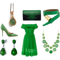 How To Wear Love The Green Outfit Idea 2017 - Fashion Trends Ready To Wear For Plus Size, Curvy Women Over 20, 30, 40, 50