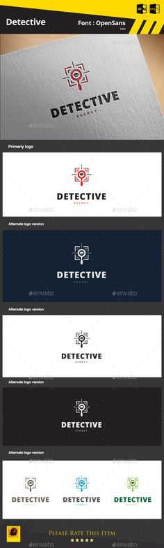 Detective Logo — AI Illustrator #agent #radar • Available here → https://graphicriver.net/item/detective-logo/9185636?ref=pxcr