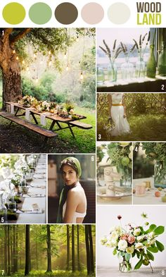 Hey Look - Event styling, design inspiration, DIY ideas and more: COLOR INSPIRATION - dreamy woodland