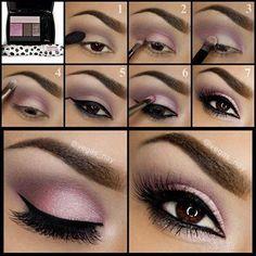 Pink looks fantastic against tanned skin and brown eyes! #Makel #Up