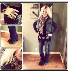 Put on a Jean skirt