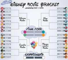 Disney films have shaped the childhoods of many, and whether you care to admit it or not, deep down you still love these movies . a lot. In our third week of Bracket Madness, For The Win attempts to decide which is the greatest of all Disney films. Disney Pixar, Disney Memes, Walt Disney Animated Movies, Disney Original Movies, Animated Movie Posters, Walt Disney Animation, Pixar Movies, Animation Movies, Comedy Movies