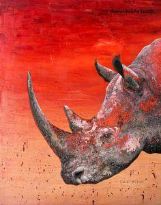 White rhino painting by Landi-Michelle.  #landimichellearts #whiterhino #southafricanartist #femalesouthafricanartist #rhinooilpainting #abstractart #art #artist #artwork #poachingwars #tomhardy #impressionisticpainting #wildlifeart #WildlifeConservation #southafricanart #instaart #landimichelle #bestoftheday #didyouknow #nowyouknow #nature #earth #earthling #UniteAgainstPoaching #rhinoextinction #artgallery