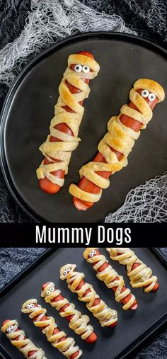 A simple recipe for how to make Mummy Dogs! This easy Halloween recipe is perfect for dinner on Halloween night or a fun Halloween party food. All you need are crescent rolls and hot dogs to bake up this easy Halloween treat. Make mummy dogs for your kids Hallowen Food, Halloween Dinner, Halloween Food For Party, Halloween Night, Spooky Halloween, Halloween Decorations, Halloween Costumes, Women Halloween, Halloween 2020