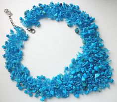 Ожерелье Бирюзовое | biser.info - всё о бисере и бисерном творчестве