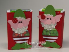 Stampin' Up! Christmas by Dawn G: Elf Punch Art Tic Tac Holder Christmas Favors, 3d Christmas, Christmas Paper Crafts, Handmade Christmas Decorations, Stampin Up Christmas, Christmas Projects, Christmas Ideas, Xmas Elf, Holiday Crafts