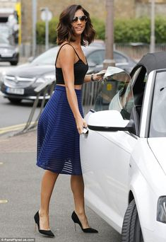 Abs-olutely fabulous: The 23-year-old reality star looked effortlessly elegant for her day...