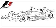 F1 Racing Car Coloring Page printables Cars coloring