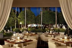 Bianca at Delano Hotel, Miami, top restaurants, best restaurants, luxury restaurants, expensive restaurants