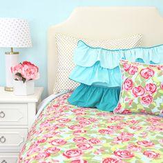 Caden Lane Baby Bedding - Funky Rose Duvet Cover, $149.00 (http://cadenlane.com/funky-rose-duvet-cover/)