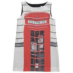 Junior Girls Red Telephone Box Dress - Moschino