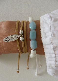 bohemian wrap feather bracelet beachcomber by beachcombershop