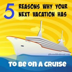 Looking for the most amazing vacation option? Look no further! Cruises will offer you an affordable, fun and enjoyable experience. Check out why here. @homelifeabroad.com