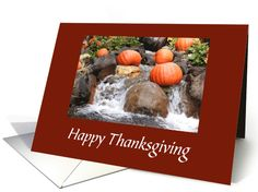 Thanksgiving Waterfall/Pumpkins On The Waterfall card