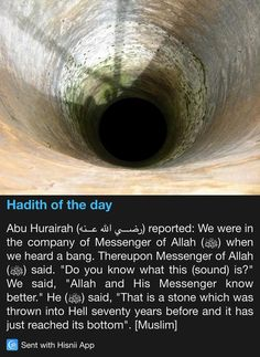 Hadith of the day: