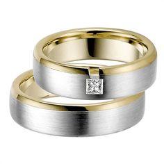 Rauschmayer Trauringe Weiß- und Gelbgold 6mm #eheringe #hochzeit #liebe #paar #ehe #ringe #trauung #gold #silber