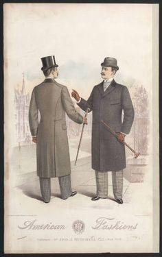 "1890-1895, Plate 023. Fashion plates, mens 1880-1939.  The Costume Institute Fashion Plates. The Metropolitan Museum of Art, New York. Gift of Woodman Thompson (b1752524x) | ""American Fashions"" from 1893. #fashion"