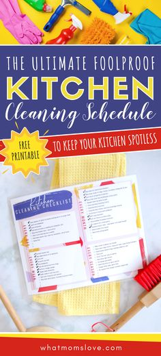 The Foolproof Kitchen Cleaning Schedule To Keep Your Kitchen Spotless (+ Free Printable Checklist!) – Diet and Nutrition