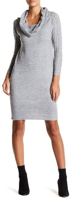 Solutions Cowl Neck Sweater Dress