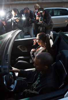 Kim Kardashian Photo - Kim And Kanye Arriving At The Ferdi Restaurant
