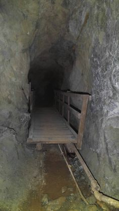 Bridge over a deep chasm in an abandoned mine. Cannot confirm presence of Balrog. (OC) [1717x3052]