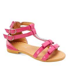 Fuchsia Rhinestone Gladiator Sandal