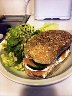 Burger saumon concombre st moret
