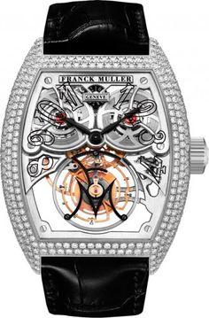 Franck Muller Giga Tourbillon 8889 T G SQT BR D7 Mechanical Skeleton Watch For Rare & Premium