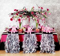 black and white striped kitchen | modern elegance pink black and white baby shower birthday party ...