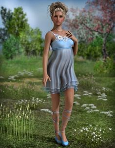 When the first sun rays of spring wake the flowers with their kisses, the air is filled with song and a new cycle of life begins.  Spring is here! And currently you'll be able to add it to your Runtime with this attractive new outfit for Genesis a pair of female. http://3dmodelartzone.blogspot.ro/2013/06/art-zone-song-of-spring.html