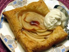 Quince & Apple Squares:  An easy recipe to whip up easily when visitors call: puff pastry, fresh apple and quince paste work their magic together very well.