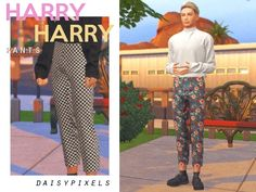 Harem Pants, Pajama Pants, Sims Games, The Sims 4 Download, Sims 4 Mods, Sims Cc, Matching Outfits, Mens Fashion, Cute